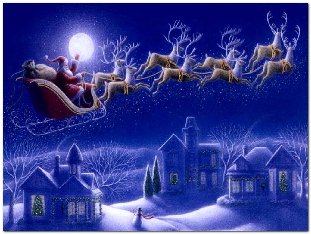 north - Santa With Reindeer Pictures