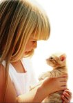 kid and kitten - google